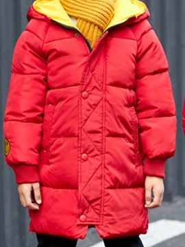 Ericdress Hooded Zipper Mid-Length Boy's Down Jacket
