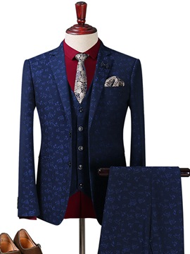 Ericdress Floral Print Button Casual Men's Suit