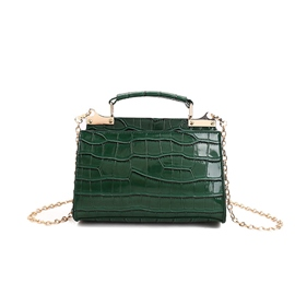 Ericdress Classic Croco-Embossed Chain Crossbody Bag