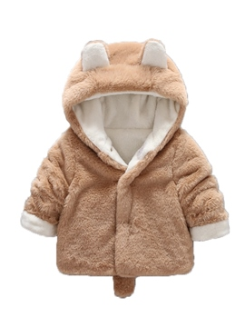 Ericdress Plain Hooded Thick Baby Girl's Down Jacket