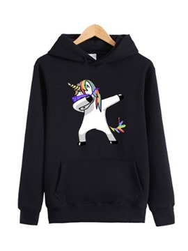 Ericdress lose Karikatur drucken cool hoddie