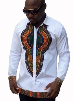 Ericdress African Fashion Dashiki Ethnic Straight Mens Single-Breasted Shirt