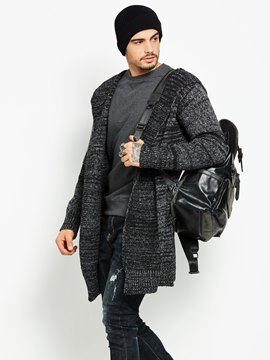 Ericdress Hooded Cardigan Mid-Length Men's Coat
