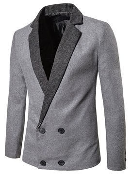 Ericdress Patched Double-Breasted Vogue Men's Blazer