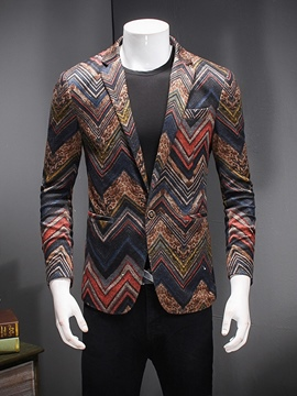 Ericdress Floral Print Men's Unique Blazer