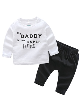 ericdress Brief Druck Baby Boy 2-teiliges Outfit