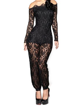 Ericdress Lace Slim Women's Jumpsuit