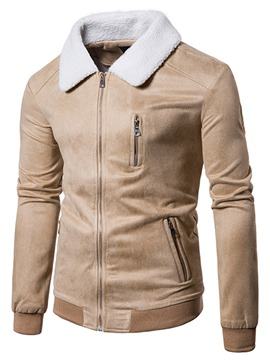 Ericdress Zip Thicken Warm Vogue Casual Men's Jacket