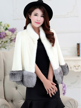Ericdress Short Three-Quarter Fur Coat