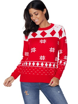 Ericdress Christmas Snowflake Ugly Sweater