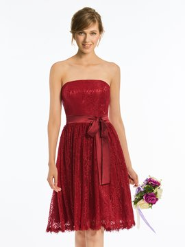 Ericdress Strapless Knee-Length Lace Bridesmaid Dress