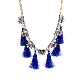 Earring Retro Tassel Women's Sweater Necklace