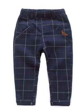 Ericdress Plaid Mid-Waist Baby Boy's Pant