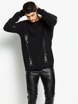 Ericdress Quality Jacquard Pullover Men's Sweater