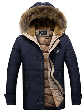 Ericdress Hooded Thicken Zipper Up Men's Winter Coat