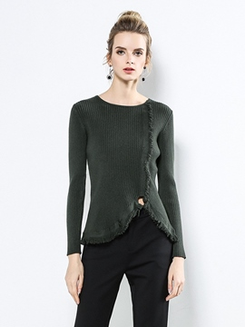 Ericdress Slim Plain Cropped Sweater