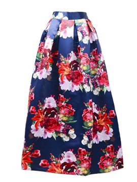 Ericdress Ankle-Length Floral Print Women's Skirt