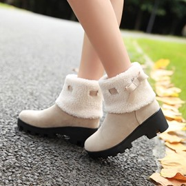 Ericdress Slip-On Women's Ankle Boots with Bowknot