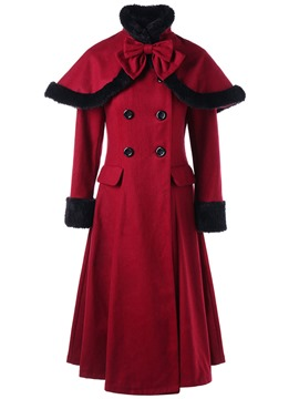 Ericdress Slim Long Double-Breasted Coat
