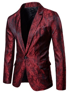 Ericdress Lapel Vogue Print Slim Men's Tuxedo Blazer