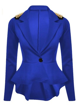 Ericdress Slim Epaulet One Button Blazer