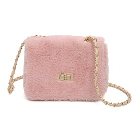 Ericdress Korean Style Solid Color Soft Plush Crossbody Bag