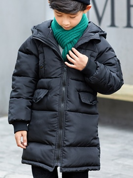 Ericdress Plain Hooded Thick Boy's Down Jacket