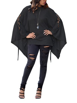 Ericdress Mid-Length Batwing Sleeve T-shirt