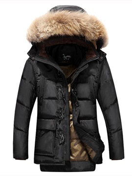 Ericdress Detachable Thicken Zipper Up Men's Winter Coat
