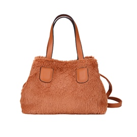Ericdress Solid Color Soft Plush Women Handbag