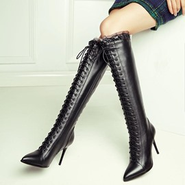 Ericdress Popular Lace Cross Strap Women's Knee High Boots