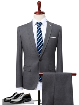 Ericdress Plain Classic Two-Piece Men's Suit