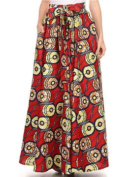 Ericdress Dashiki Floor-Length Print Women's Skirt