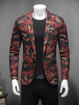 Ericdress Floral Print One Button Men's Blazer