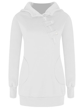 Ericdress Plain Slim Mid-Length Sweatshirt