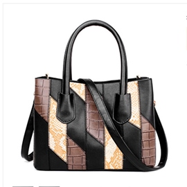 Ericdress Color Block Embossing PU Women Handbag