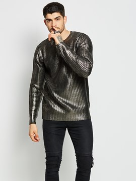 Ericdress Plain Unique Quality Men's Sweater