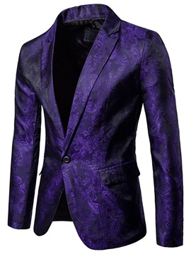 ericdress lapel vogue impression mince blazer hommes