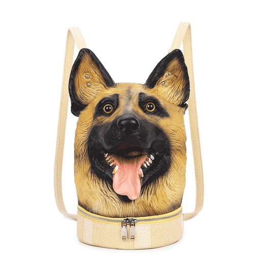 Ericdress Personality Dog Shape PU Backpack