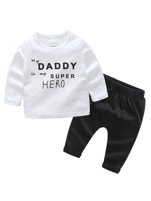 Ericdress Letter Print Baby Boy's 2-Pcs Outfit