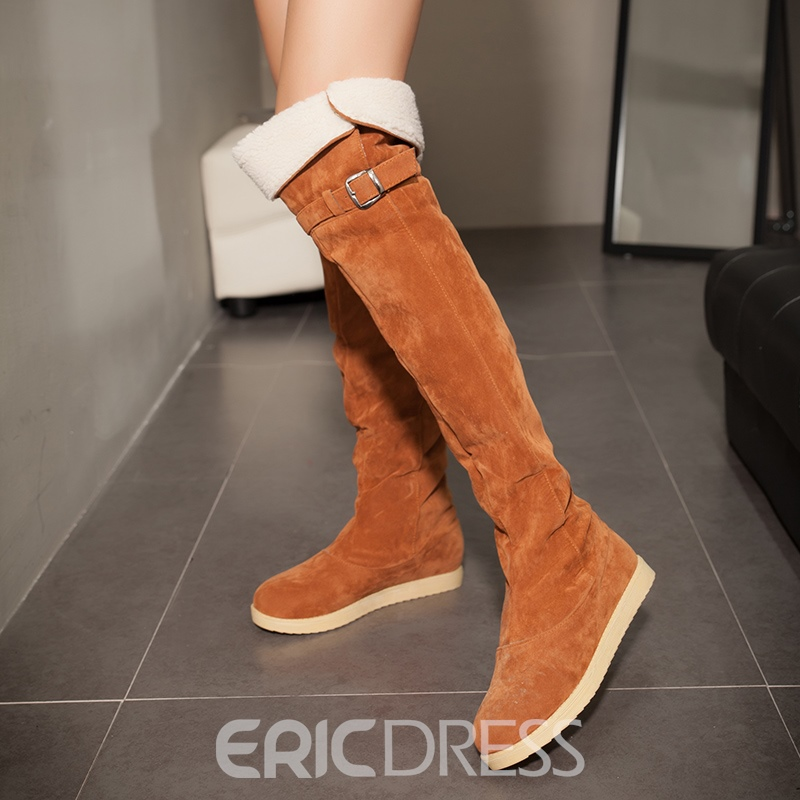 Ericdress Fashion Hasp Plain Womens Knee High Boots
