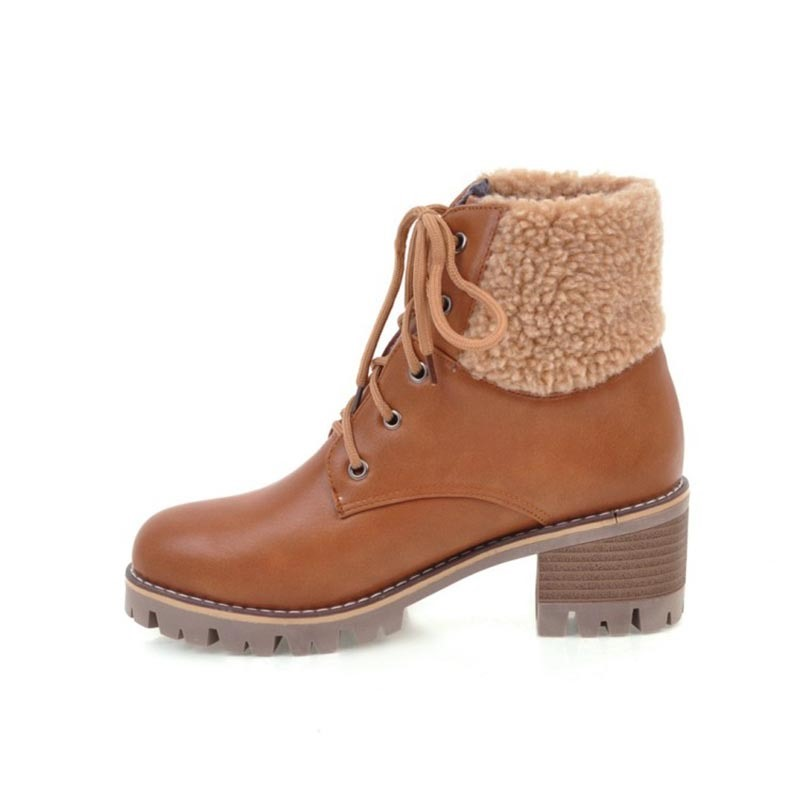 Ericdress Fall&Winter Fuzzy Plain Women's Ankle Boots