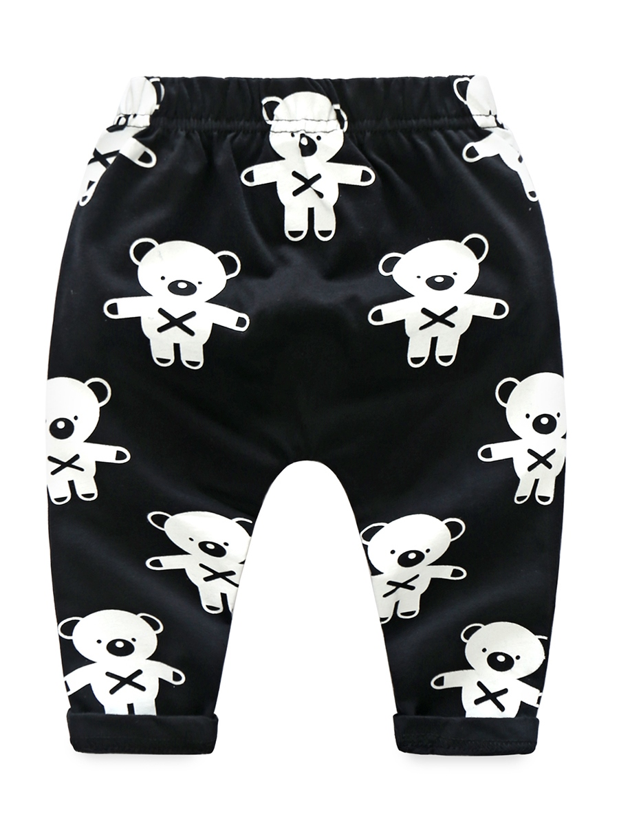 Ericdress Black Cartoon Print Baby Boy's 2-Pcs Outfit