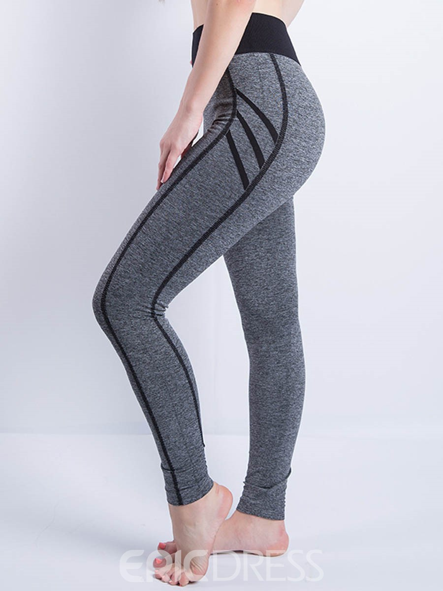 Ericdress Stripe Women's Sport Yoga Leggings