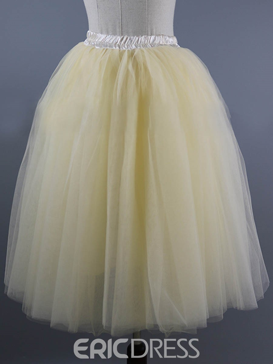 Ericdress Tulle High-Waist Women's Wedding Skirt