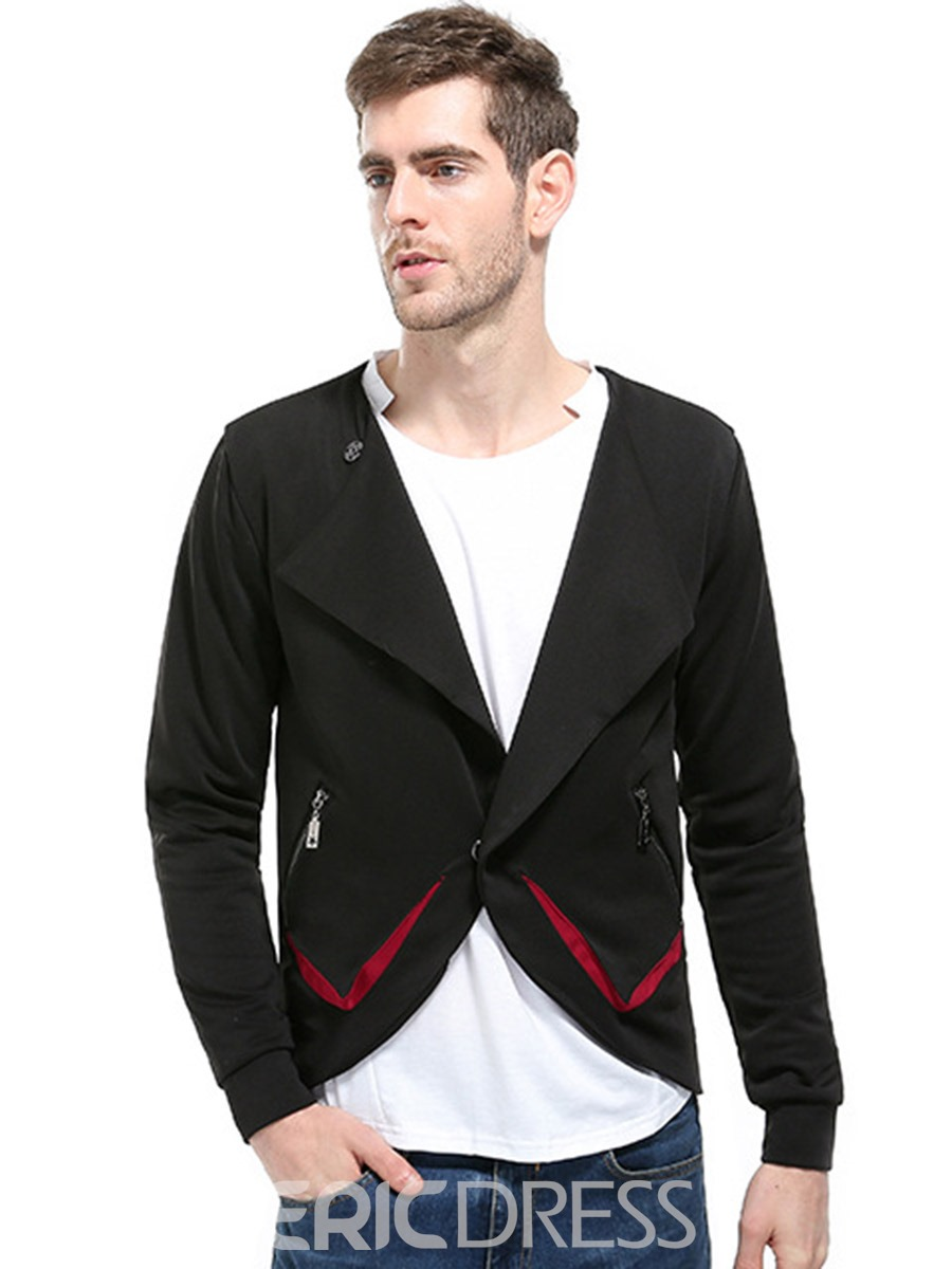 Ericdress Hidden One Button Unqiue Casual Halloween Men's Jacket