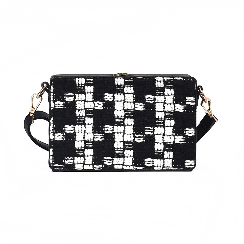 Ericdress Fashion Plaid Mini PU Crossbody Bag
