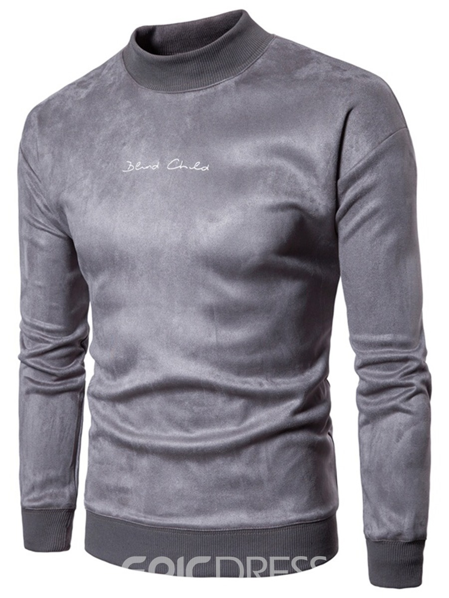 Ericdress Plain Stand Collar Men's Pullover Hoodie