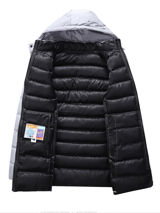 Ericdress Hooded Zipper Thicken Men's Winter Coat