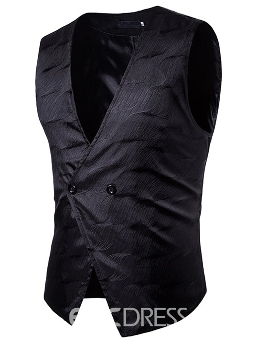 Ericdress Vogue Print Slim Men's Vest